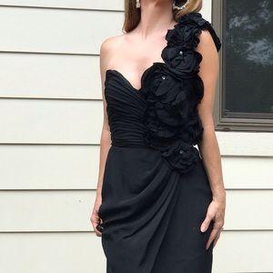 Jovani wiggle dress silk roses sz 4